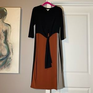 C Est. 1946 Color Block Tie Front Jersey Dress